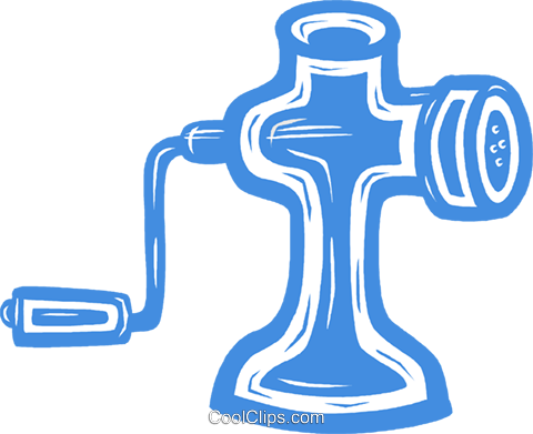 meat grinder Royalty Free Vector Clip Art illustration vc031475
