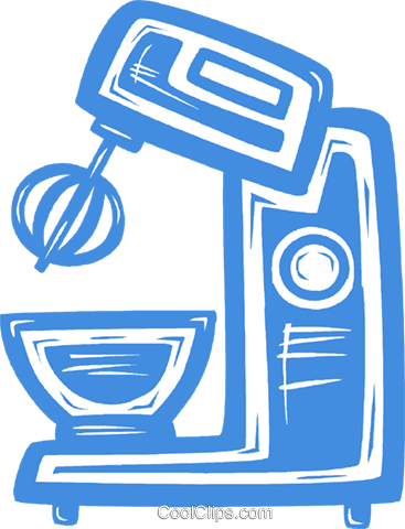 electric mixer Royalty Free Vector Clip Art illustration vc031478