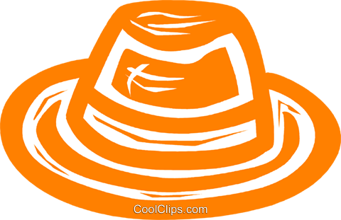 hat Royalty Free Vector Clip Art illustration vc031482