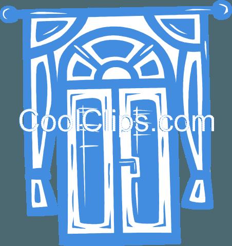 门 免版税矢量剪贴画插图
