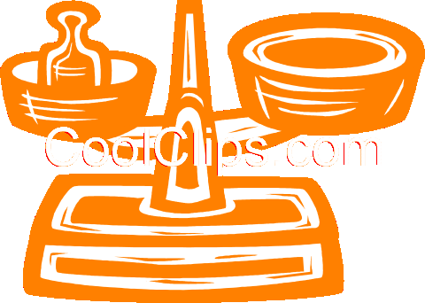 medical scales Royalty Free Vector Clip Art illustration vc031488