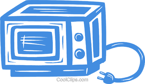microwave oven Royalty Free Vector Clip Art illustration vc031517