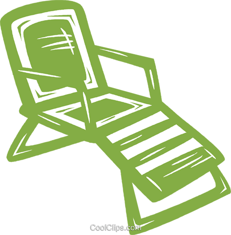 lawn chair Royalty Free Vector Clip Art illustration vc031519