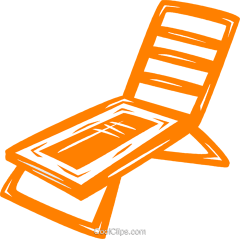 lawn chair Royalty Free Vector Clip Art illustration vc031521