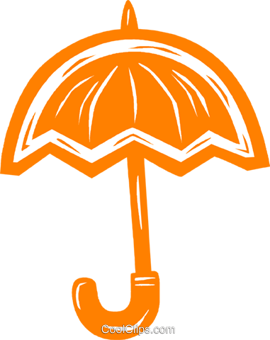 umbrella Royalty Free Vector Clip Art illustration vc031524