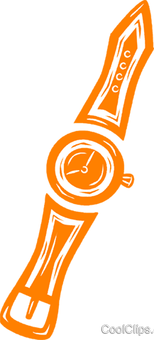 wrist watch Royalty Free Vector Clip Art illustration vc031551