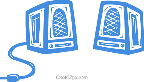 computer speaker Royalty Free Vector Clip Art illustration vc031577