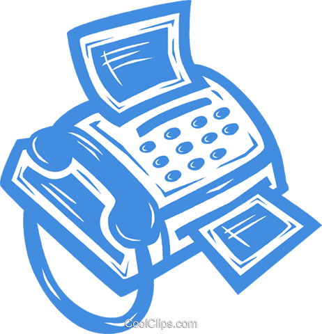 fax machine Royalty Free Vector Clip Art illustration vc031580