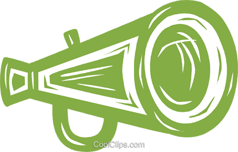 megaphone Royalty Free Vector Clip Art illustration vc031594