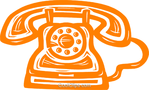 home telephones Royalty Free Vector Clip Art illustration vc031596