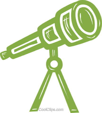 telescope Royalty Free Vector Clip Art illustration vc031597