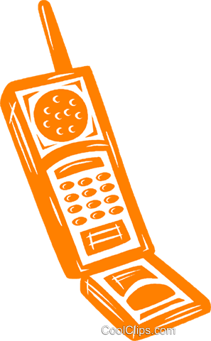 cell phone Royalty Free Vector Clip Art illustration vc031608