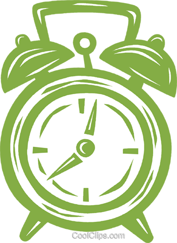 alarm clock Royalty Free Vector Clip Art illustration vc031633