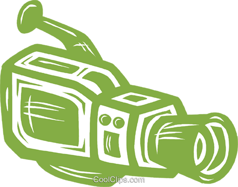 video camera Royalty Free Vector Clip Art illustration vc031645