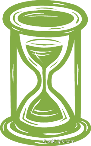 hourglass Royalty Free Vector Clip Art illustration vc031648