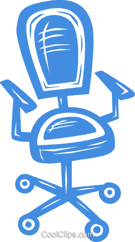 office chair Royalty Free Vector Clip Art illustration vc031664