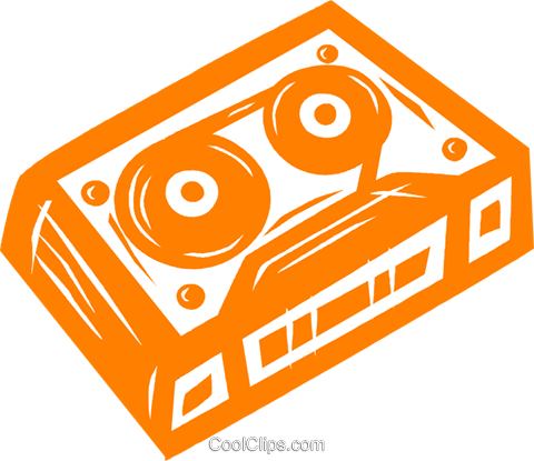 video tape Royalty Free Vector Clip Art illustration vc031671