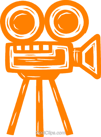 motion picture camera Royalty Free Vector Clip Art illustration vc031674