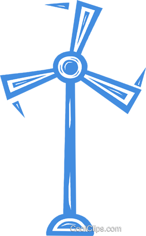 wind energy Royalty Free Vector Clip Art illustration vc031691