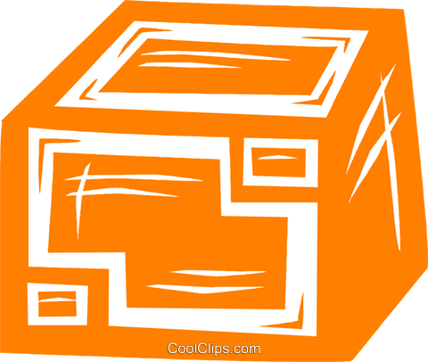 shipping crate Royalty Free Vector Clip Art illustration vc031698