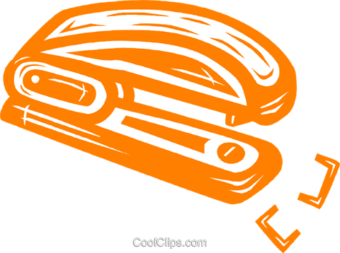 stapler Royalty Free Vector Clip Art illustration vc031716