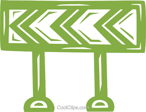 barriers Royalty Free Vector Clip Art illustration vc031738