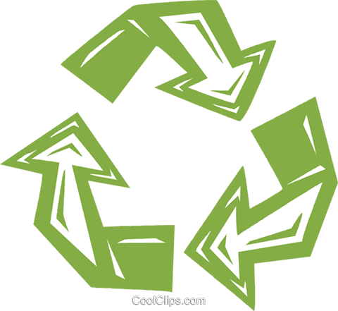 recycle sign Royalty Free Vector Clip Art illustration vc031750