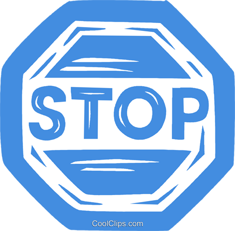 stop sign Royalty Free Vector Clip Art illustration vc031763