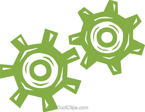 gears Royalty Free Vector Clip Art illustration vc031780