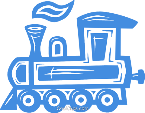 train engine Royalty Free Vector Clip Art illustration vc031781