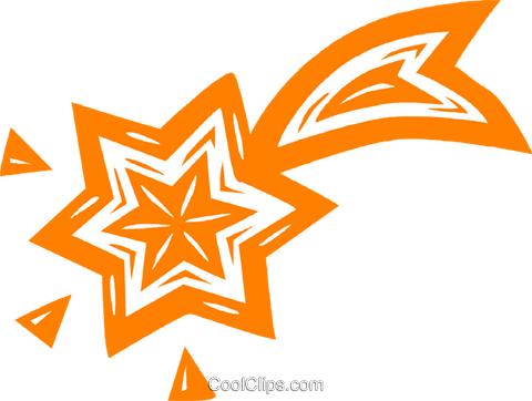 shooting stars Royalty Free Vector Clip Art illustration vc031797