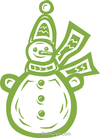 snowman Royalty Free Vector Clip Art illustration vc031807