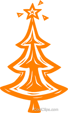 Christmas tree Royalty Free Vector Clip Art illustration vc031824