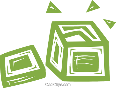 shipping crate Royalty Free Vector Clip Art illustration vc031837