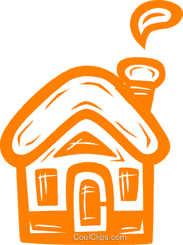 rural home Royalty Free Vector Clip Art illustration vc031839