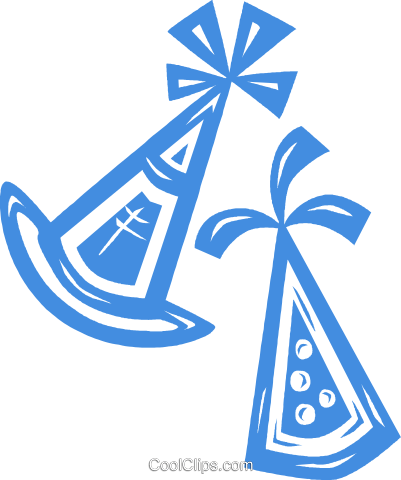 party hats Royalty Free Vector Clip Art illustration vc031844