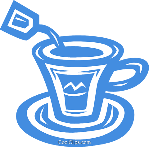 teacup Royalty Free Vector Clip Art illustration vc031862
