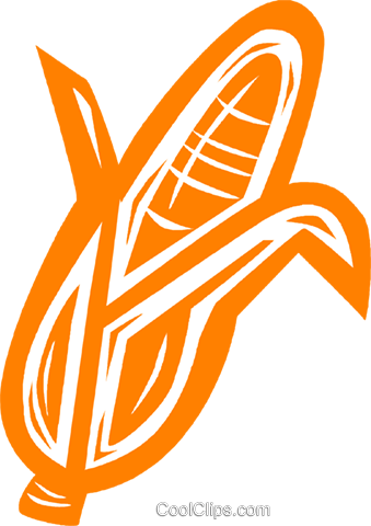 corn on the cob Royalty Free Vector Clip Art illustration vc031887