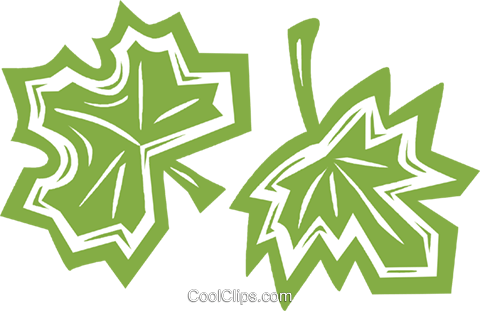 leaves Royalty Free Vector Clip Art illustration vc031894
