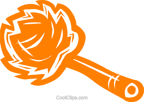 feather duster Royalty Free Vector Clip Art illustration vc031926