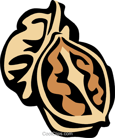 walnuts Royalty Free Vector Clip Art illustration vc031955