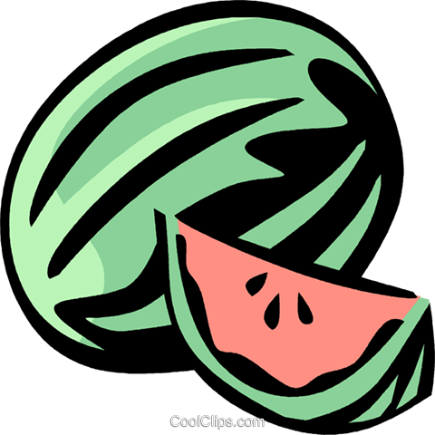 watermelon Royalty Free Vector Clip Art illustration vc031977