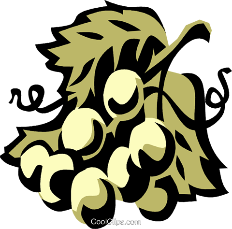 grapes Royalty Free Vector Clip Art illustration vc031991