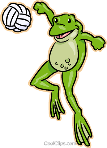 frog playing volleyball royalty free vector clip art illustration rh search coolclips com Dead Frogs Volleyball Smiling Volleyball