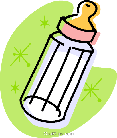 baby bottle Royalty Free Vector Clip Art illustration vc032005