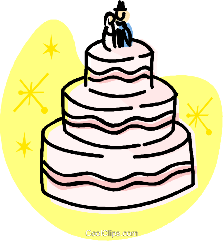 Wedding cakes Royalty Free Vector Clip Art illustration vc032006