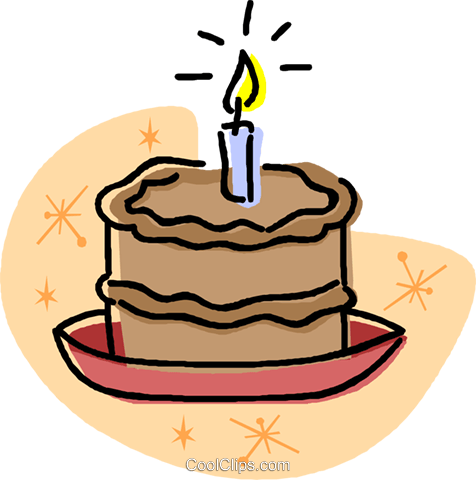 birthday cake Royalty Free Vector Clip Art illustration vc032012