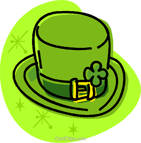 St. Patrick's Day top hat Royalty Free Vector Clip Art illustration vc032015