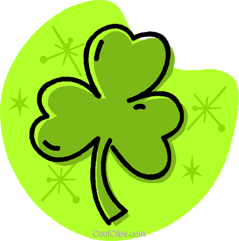 St. Patrick's Day shamrock Royalty Free Vector Clip Art illustration vc032016