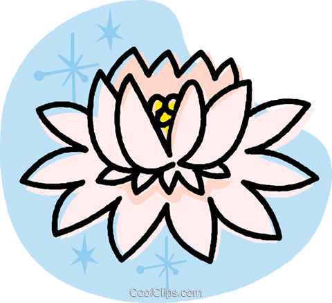 water lily Royalty Free Vector Clip Art illustration vc032017